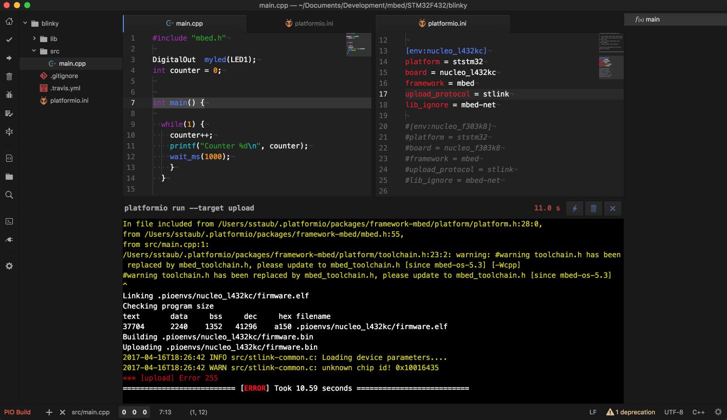 Upload to nucleo stm32 l423kc fails - PlatformIO Community
