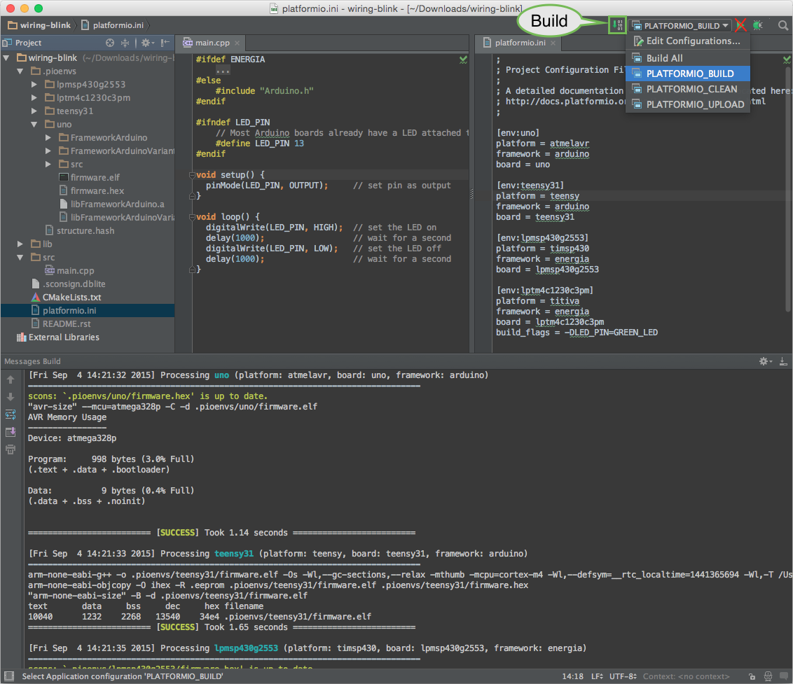 Can't get generated project to work with CLion - PlatformIO