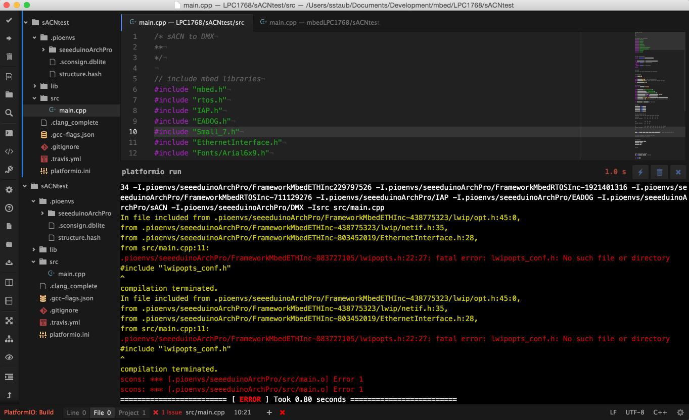 Problem building with Seeeduino Arch Pro - PlatformIO Community