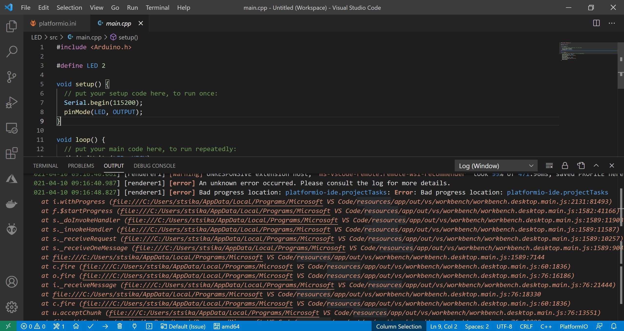 platformio VS code issue