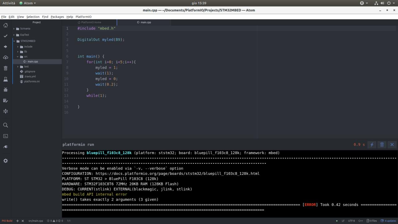 STM32 BluePill 128K build error - Troubleshooting - PlatformIO Community