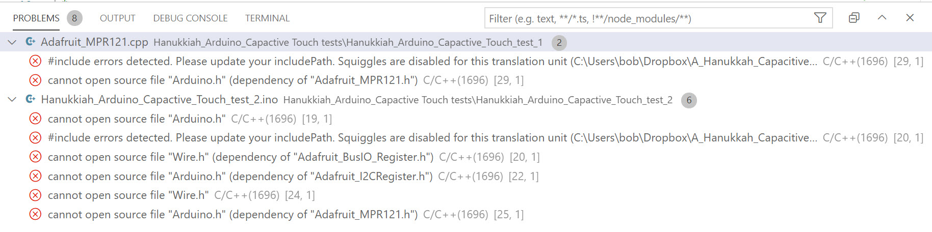 Hanukkiah_Arduino_Capactive_Touch_test_ERRORS
