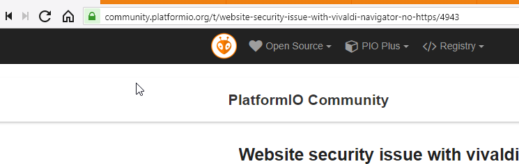 Website security issue with vivaldi navigator: no https